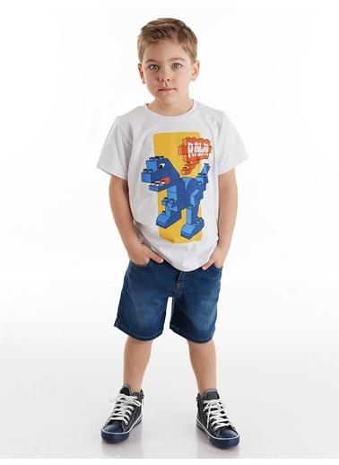 Denokids Tuğla Erkek Çocuk Denim Şortlu Takım Renkli